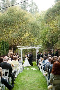 Outdoor Ceremony Spokane WA Commellini Estate Wedding by Jenna Boogerd Photography