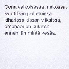 Nimiviikon 6.runo: Oona & kissa (27.9.2014) www. taideonikuistaa.blogspot.fi