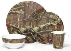 Camo dishes...would be great for the camper | Camo fashion and ...