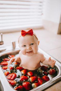 Strawberry bath 🛁