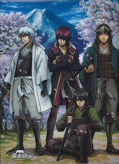 Gin Tama, Sakamoto Tatsuma, Katsura Kotaro, Takasugi Shinsuke, Sakata Gintoki, Shiroyasha