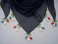 dangling tulip crochet trim