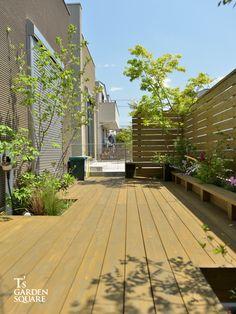 ドックランを家で楽しむ|全面ウッドデッキの庭|愛知の庭・外構デザイン|ティーズガーデンスクエア