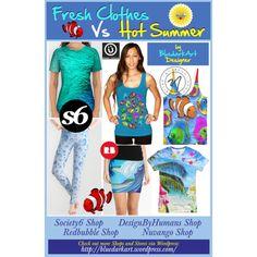 ☀ #Fresh #Clothes VS #Hot #Summer! ☀ by #bluedarkart  Featuring a #blue #top > #society6 - #Blue tshirt > #nuvango - #Fish #tank  - #legging €35 > #society6 - Comic #book €16 > #zazzle - #Cute #Tropical #Fishes #3D €13 > #designbyhumans - #Pencil #skirt > #Redbubble .... https://bluedarkart.wordpress.com/2015/07/07/%e2%98%80-fresh-clothes-vs-hot-summer-%e2%98%80