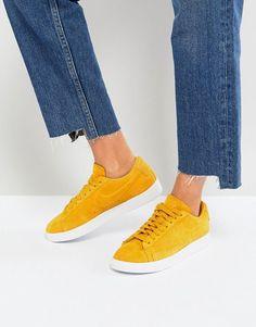Nike | Nike Blazer Low Mustard Suede Sneakers $96