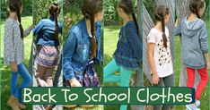 Cute back to school clothes, outfit ideas. Nothing over $30.
