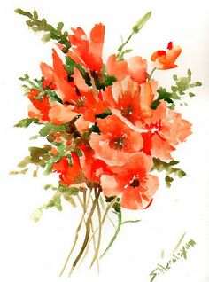 Floral Display  by Helen Wagner on Etsy