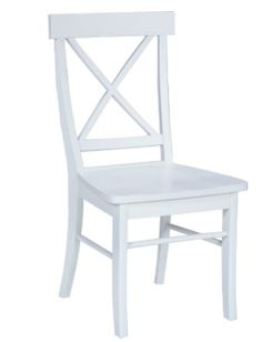 x back white cafe chair