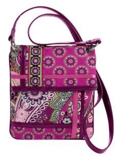 "My ""Flipster"" handbag by Vera Bradley in Very Berry Paisley. <3"