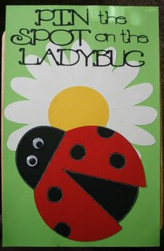 I used some green posterboard for the base of the game. I then cut a daisy from… Picnic Birthday, Birthday Games, 1st Birthday Parties, Boy Birthday, Birthday Ideas, Ladybug Picnic, Ladybug Party, Bee Party, Ladybug 1st Birthdays