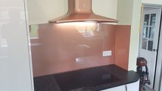Southern Counties Glass manufacturers and supplies glass splashbacks, digitally prints images and photos on glass, and offers a supply only or supply and fit service Copper Splashback Kitchen, Copper Kitchen, Kitchen Ideas, Kitchen Design, Glass Splashbacks, Copper Glass, Kitchen Remodel, Digital Prints, Metallic