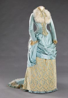 Icy Blue Silk & Feathers: Two Wintery Victorian Garments, 1870s-1880s