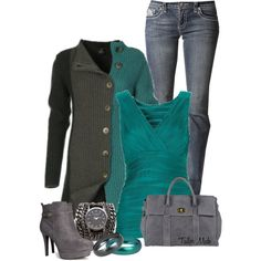 Buttoned Up Cardigan, created by taliormade on Polyvore