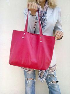 FREE SHIPPING/ Cherry leather bag/ Tote Handmade bag/ от LaraKlass