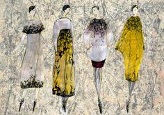 fashion illutration Pollock inspired