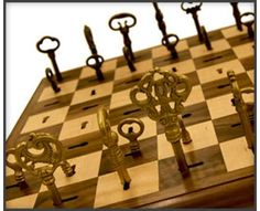 The Key to Chess is.... I don't play chess but I think this board is very cool!
