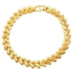 U7 Jewelry Women's 18K Gold Plated Heart Chain Bracelet