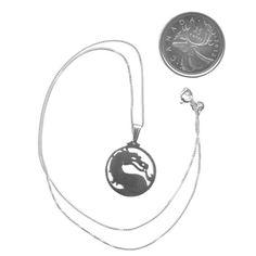 Sterling Silver Mortal Kombat Necklace Video Game Fan by iceSylum, $35.00