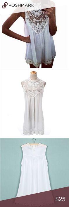 🤗🤗🎉🍾adorable Lace dress or Tunic Size medium very cute Dresses Mini
