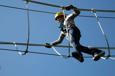 The rope bridge of the Wisp Resort Guided Canopy Tour http://www.deepcreekvacations.com/deep-creek-lake-info.htm