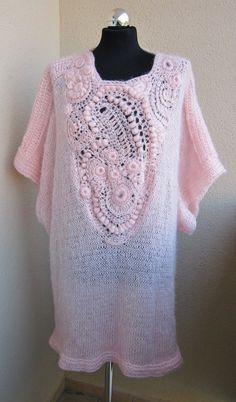 SALE freeform crochet,tunic , dress oversize , knitting and crochet