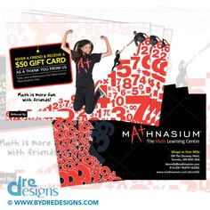 Mathnasium of Don Mills Referral Postcard Design & Print Graphic Design Print, Freelance Graphic Design, Postcard Design, Learning Centers, Portfolio Design, Printing Services, Flyer Design, More Fun, Toronto