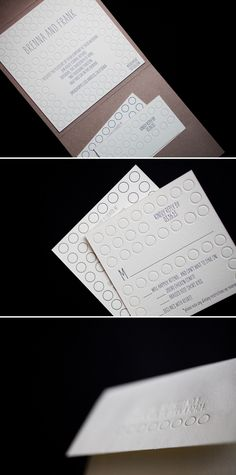 Moda Contemporary letterpress wedding invitations by Bella Figura