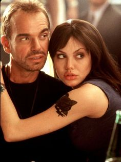 "Billy Bob Thornton and Angelina Jolie in ""Pushing Tin"""