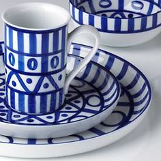 Arabesque Blue and White -- Lenox china by Danish potter Niels Refsgaard