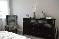 grey elegant bedroom