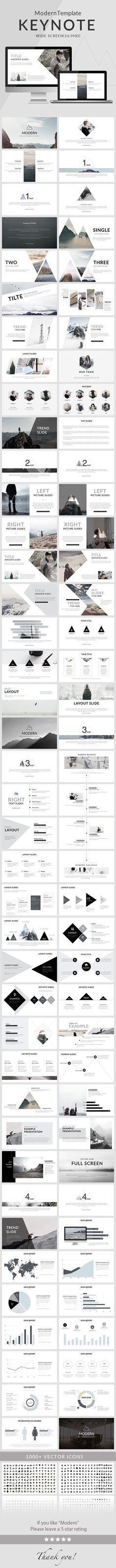 Modern - Clean trend Keynote Template. Download here…