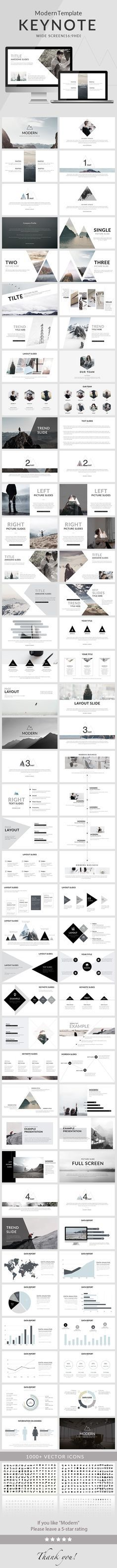Modern - Clean trend Keynote Template - Creative Keynote Templates