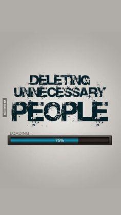Just delete them