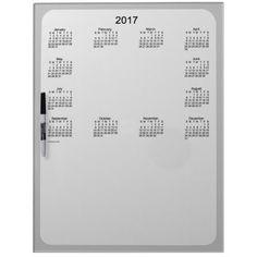 2017 Grey Dry Erase Calendar by Janz Dry Erase Board