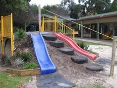 The more I see them the more I feel I need tire steps on our hillside slide!