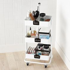 Bathroom storage is a location of the home we constantly require to work on. Then you'll need to see these 30 bathroom storage ideas. Bathroom Cart, Bathroom Ideas, College Bathroom Decor, Bathroom Makeovers, Makeup Storage Small Bathroom, Bathroom Mirrors, Simple Bathroom, Makeup Storage For Small Spaces, Redo Bathroom