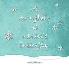 A snowflake is winter's butterfly Christmas Quotes, Christmas And New Year, Winter Christmas, Christmas Time, Christmas Crafts, Winter Snow, Christmas Jars, Christmas Images, Christmas Colors