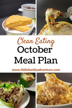 October Clean Eating Meal Plan