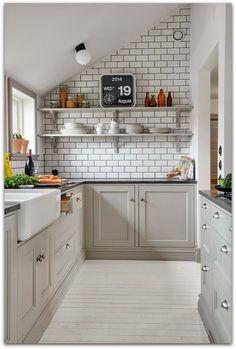 En casa de Oly: Tendencias de decoración para la cocina: azulejo blanco, lechada negra