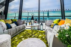 Sky Garden's Eccentric English Country Garden - 35th floor of the Walkie Talkie Tower in Fenchurch Street - London