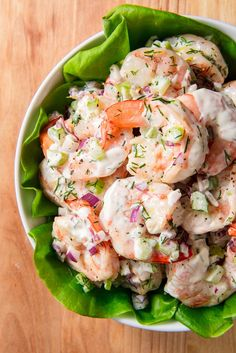 Salad These Shrimp Salad Lettuce Wraps are ready in under 20 minutes. Get the recipe at .These Shrimp Salad Lettuce Wraps are ready in under 20 minutes. Get the recipe at . Fish Recipes, Seafood Recipes, Cooking Recipes, Healthy Recipes, Cold Shrimp Salad Recipes, Shrimp Salad Sandwiches, Recipe For Shrimp Salad, Dinner Recipes, Simple Shrimp Recipes