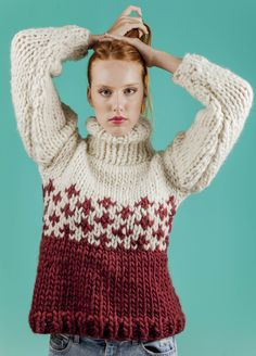 Iron wood sweater we are knitters.