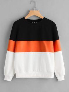 b105b2dba2 Shop Cut And Sew Sweatshirt online. SheIn offers Cut And Sew Sweatshirt &  more to fit your fashionable needs.