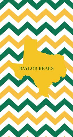 #Baylor green and gold chevron background