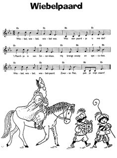 liedje: wiebelpaard / sinterklaas Sheet Music, School, Diy, Bricolage, Do It Yourself, Homemade, Music Sheets, Diys, Crafting