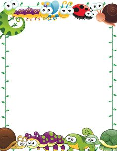 Page Borders Design, Border Design, Borders For Paper, Borders And Frames, Word Games For Kids, Daycare Themes, Border Templates, School Frame, Frame Clipart