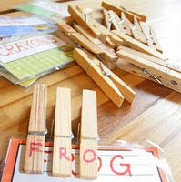 Use clothespins to match up letters to spell their names, sight words and numbers