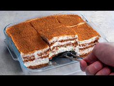 SÜTÉS NÉLKÜLI sütemény, 5 perc munkával 3 hozzávalóból| Ízletes TV - YouTube No Cook Desserts, Apple Desserts, Easy Desserts, Biscuits Au Cacao, Kakao, Deserts, Baking, Ethnic Recipes, Food