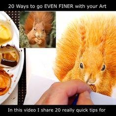 Watercolor Video, Watercolor Techniques, Painting Techniques, Watercolour Painting, Drawing Tutorials, Painting Tutorials, Video Tutorials, Watercolor Paintings Of Animals, Animal Paintings