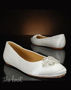 Low Heel Wedding Shoes by My Glass Slipper - Sahara by Badgley Mischka - Shoes